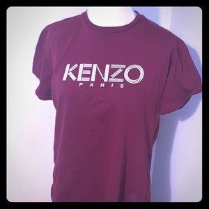 Kenzo maroon shirt.